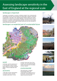 Assessing landscape sensitivity in the East of England