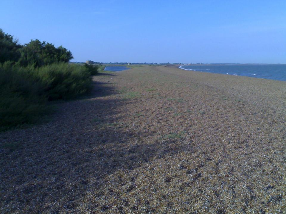 Looking north from Bawdsey, Suffolk (© Simon Odell (2011))