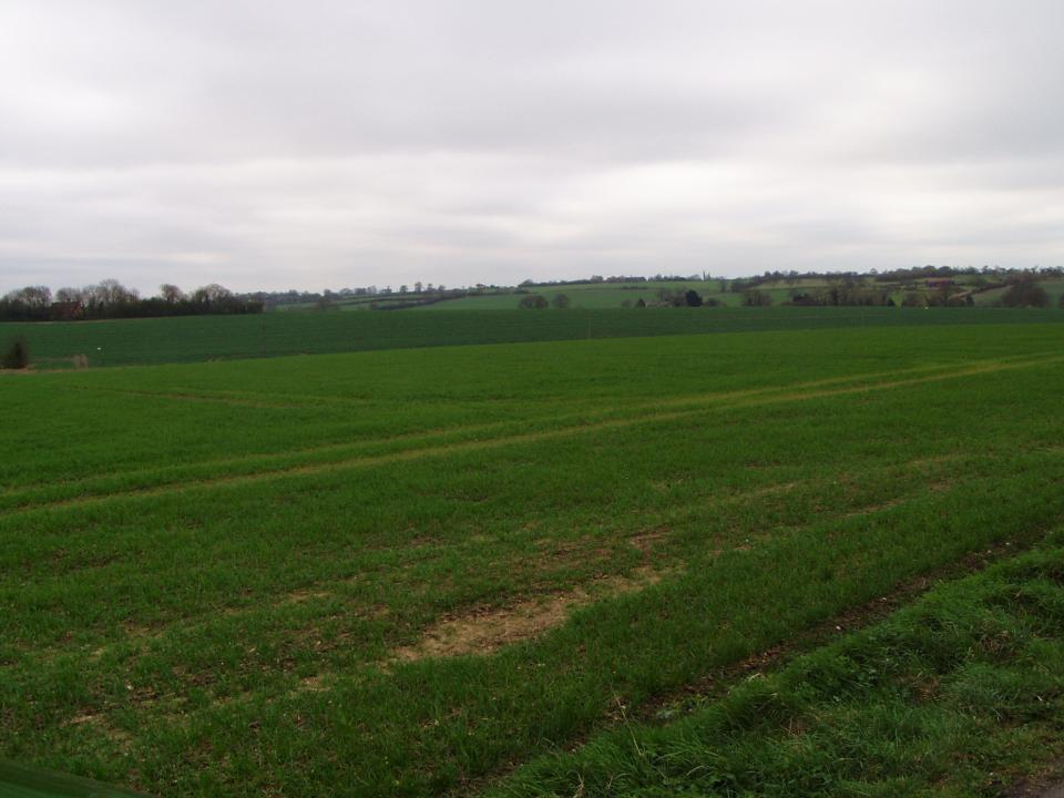 Open landscape with farmstead dissected by a small valley (© Suffolk County Council)