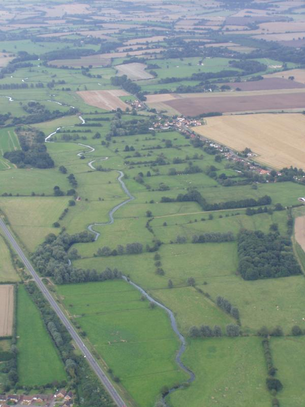 Valley Meadowlands + The river Waveney at Scole in Norfolk (© Suffolk County Council)
