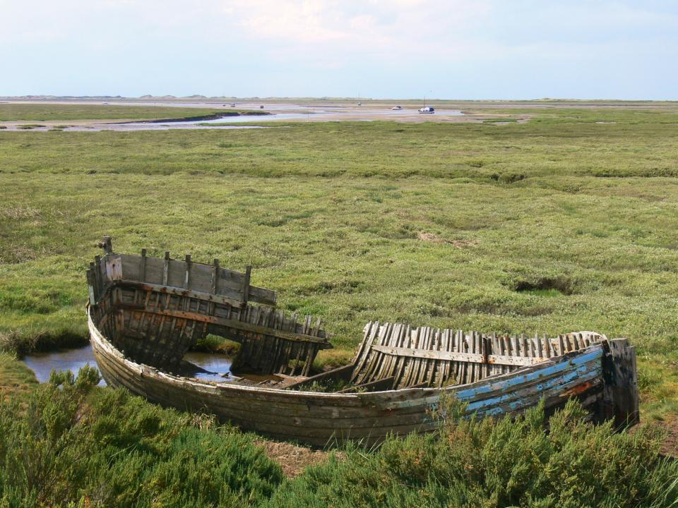 View north west towards Blakeney Point, Blakeney, Norfolk (© Jonathan Dix)